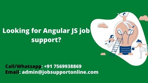 angularJs Job Support